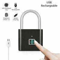 Fingerprint Keyless Door Lock Smart Biometric Padlock Waterproof theft W3V7 S6S4