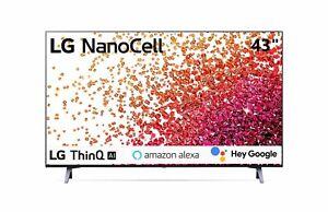 """Télévision TV LG Nanocell 43 """" 43NANO753PA Smart LED UHD 4K HDR 2021"""