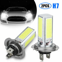 2x H7 LED Fog Light Headlight Bulbs Kit 80W 6000LM Super Bright 6000K White