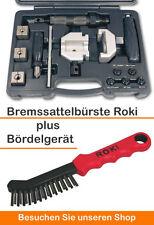 Mobiles Bördelgerät hydraulisch für Bremsleitungen + Bremssattelbürste Roki