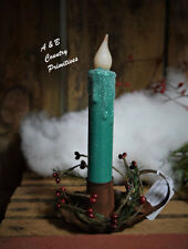 """Set of (2) Two """"Snowy"""" Vintage Christmas Green 7 Inch LED Battery Operated Timer"""