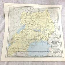 More details for 1967 vintage map of uganda africa archaeological historical sites archaeology