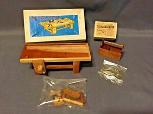 Vintage Dollhouse Miniature Tool Shackman Work Table & Handyman Tool Box w/Tools