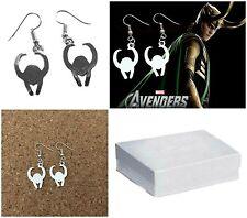 Marvel Comics (Thor) Loki Helmet Dangle Earrings W/Gift Box USA Seller