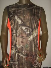 Men's Medium Mossy Oak Camo Camouflage Hunting Sleeveless Muscle Tank Top Shirt