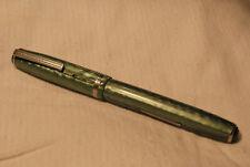 Vintage Esterbrook J Green  Marble Finish Lever Fill Fountain Pen - New 2556 Nib