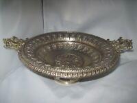 Alte Servierschale antik 1900 Historismus - Zierschale / Tablett Messing/Metall