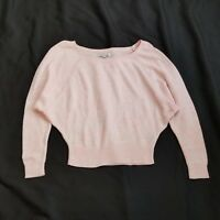 American Eagle Outfitters AEO Women's Pink Knit Dolman Sweater Size Small S