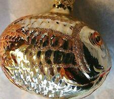 Vintage INGE-GLAS German Ornament:  GREAT BIG BRONZE FIN SILVER FISH - MINT