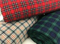 3 Designs Tartan Check Polar Fleece Fabric- Anti Pill- 150 cms Wide! Polyester