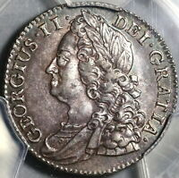 1743 PCGS AU 58 George II Shilling Great Britain Silver Coin (20090901C)