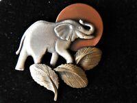 VINTAGE ESTATE DESIGNER SIGNED ELEPHANT BROOCH