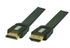 1m MEISUN HDMI Flachkabel mit Ethernet, Ultra HD, 4Kx2K, Full HD, 3D, ARC, CEC