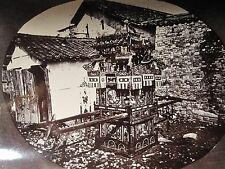 ANTIQUE CHINA FUNERAL CAR PARADE ARCHITECTURE DRAGON FIGURES CHINESE RARE PHOTO
