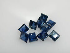 0.91cts 5pc Natural Loose Blue Sapphire Square/Princess 2.6mm Great Color Qualit