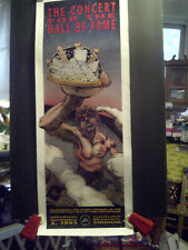 CLEVELAND ROCK AND ROLL HALL OF FAME AND MUSEUM GRAND OPENING '95 POSTER Unfrmd