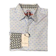 Robert Graham Men's Council Classic Fit Woven Shirt Light Blue Size Large NWT