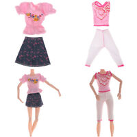 Handmade mini dress pants outfit doll clothes doll accessories for girl gifts CA