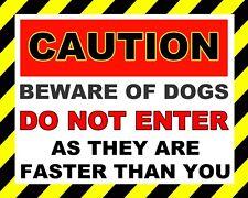 "10 x 8"" CAUTION BEWARE OF DOG DO NOT ENTER TRESPASS NOTICE METAL PLAQUE SIGN 861"