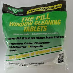 Unger Pill Window Cleaning Tablets, 100 Tablets/Pack (UNGPL5ES) PL500