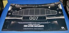 SUPER RARE THE LIVING DAYLIGHTS pre-release promo poster James Bond 007 VINTAGE