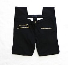 Juicy Couture Black Gold Zipper Skinny Jeans Size 29x31