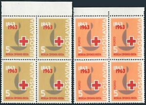 Yugoslavia RA28,RAJ25 blocks/4,MNH. Postal Tax & Due,1963.Red Cross 100.