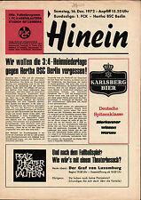 BL 72/73 1. FC Kaiserslautern - Hertha BSC, 16.12.1972