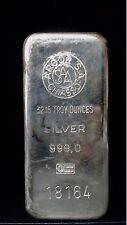 Vintage Argor S. A. Chiasso 1 Kilo Poured Silver Bar