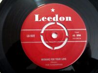 THE VOXPOPPERS - WISHING FOR YOUR LOVE / THE LAST DRAG - RARE 1958 OZ 7'' LEEDON