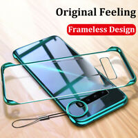 Luxury Frameless Transparent Plating Silm Hard Case Cover For Samsung Galaxy S10