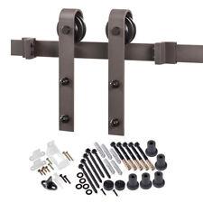 ACME Designs Bent Strap Flat Black Track Barn Door Hardware Kit BD102K-09600-MB