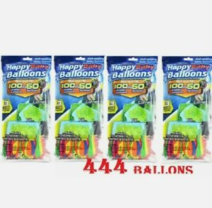 444 Water balloons Instant Easy Fill Self Sealing Water Balloons Bunch 4 PACKS
