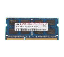 ELPIDA 4GB 2RX8 PC3-10600S DDR3 1333MHz 204pin SODIMM RAM Laptop Notebook Memory