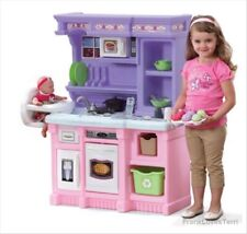 Kitchen Playset Girls Pretend Play Refrigerator Toy Cooking Toddler Kids Bake