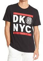DKNY Mens T-Shirt Black Red Size 2XL Run DKNYC S/S Graphic Tee Crewneck $39- 067