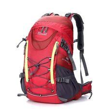 Red Rucksack Backpack 35L Waterproof Internal Frame Hiking Cycling Running Sport
