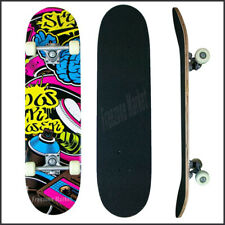 Skateboard Skater Board Graphic-X Deck Beginners Fun Cruiser Skating 78cm