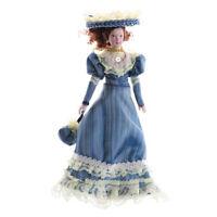 1:12 Dollhouse Miniature Elegant Porcelain Dolls Dollhouse Victorian L Hs