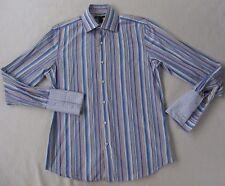 Banana Republic Men's 100% Cotton L/S Button Down Blue Striped Shirt - M 15-15.5