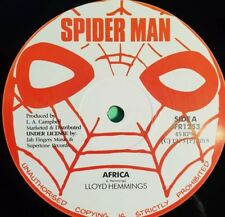 "SPIDERMAN RECORDS. AFRICA LLOYD HEMMINGS 12"""