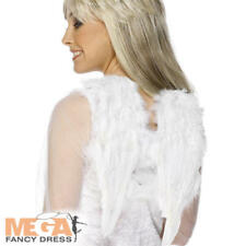 Small White Soft Feather Angel Wings Adults Ladies Fancy Dress Costume Accessory