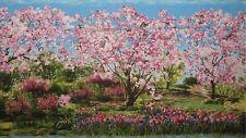 New Michael Miller Primavera Panel Cherry Tree Park Lane Fabric Panel Retro HTF