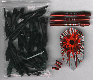 """""""THE HIT PACKAGE"""" Soft Tip Dart Upgrade Kit: Red Tips, Red Shafts & More"""