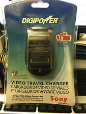 DIGIPOWER VTC-500S VIDEO TRAVEL BATTERY CHARGER FOR SONY CAMCORDER W/LCD DISPLAY