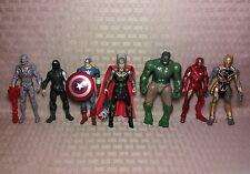 "Hasbro Marvel Universe 3.75"" Avengers Lot Hulk Chitauri Thor Winter Soldier +"