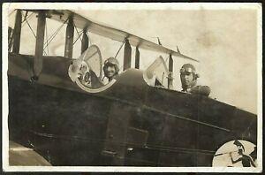 WW1 RECONNAISSANCE PLANE AIRCRAFT WAR TRANSPORTATION PC RPPC ANTIQUE POSTCARD