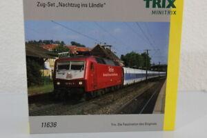 N Minitrix 11636 Zugset Nachtzug ins Ländle BR 120 Diesellok DCC digital+OVP/J69
