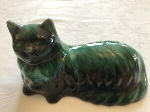 Vintage Blue Mountain Persian Cat Figurine (L19xW10xH10cm)