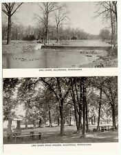 Lot of 2 Sellersville PA Bucks County Lake Lenape & Picinic Area Postcards